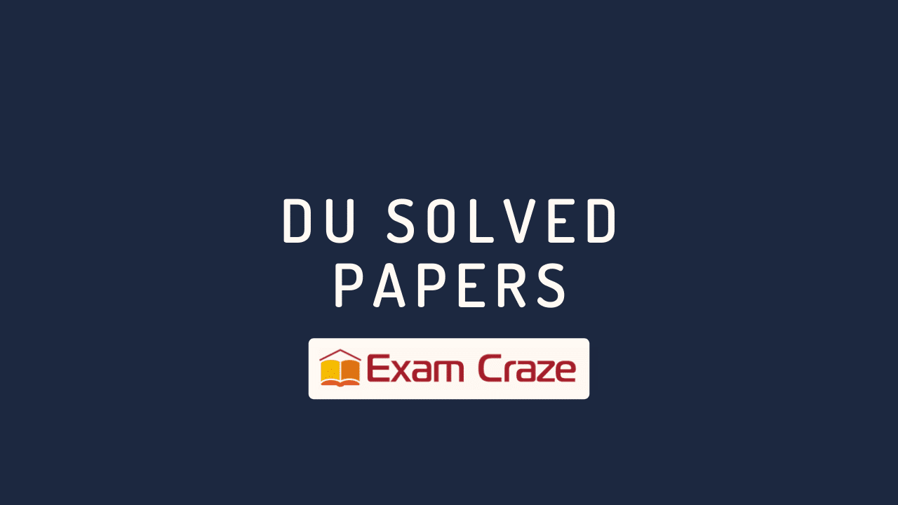 DU Solved Papers